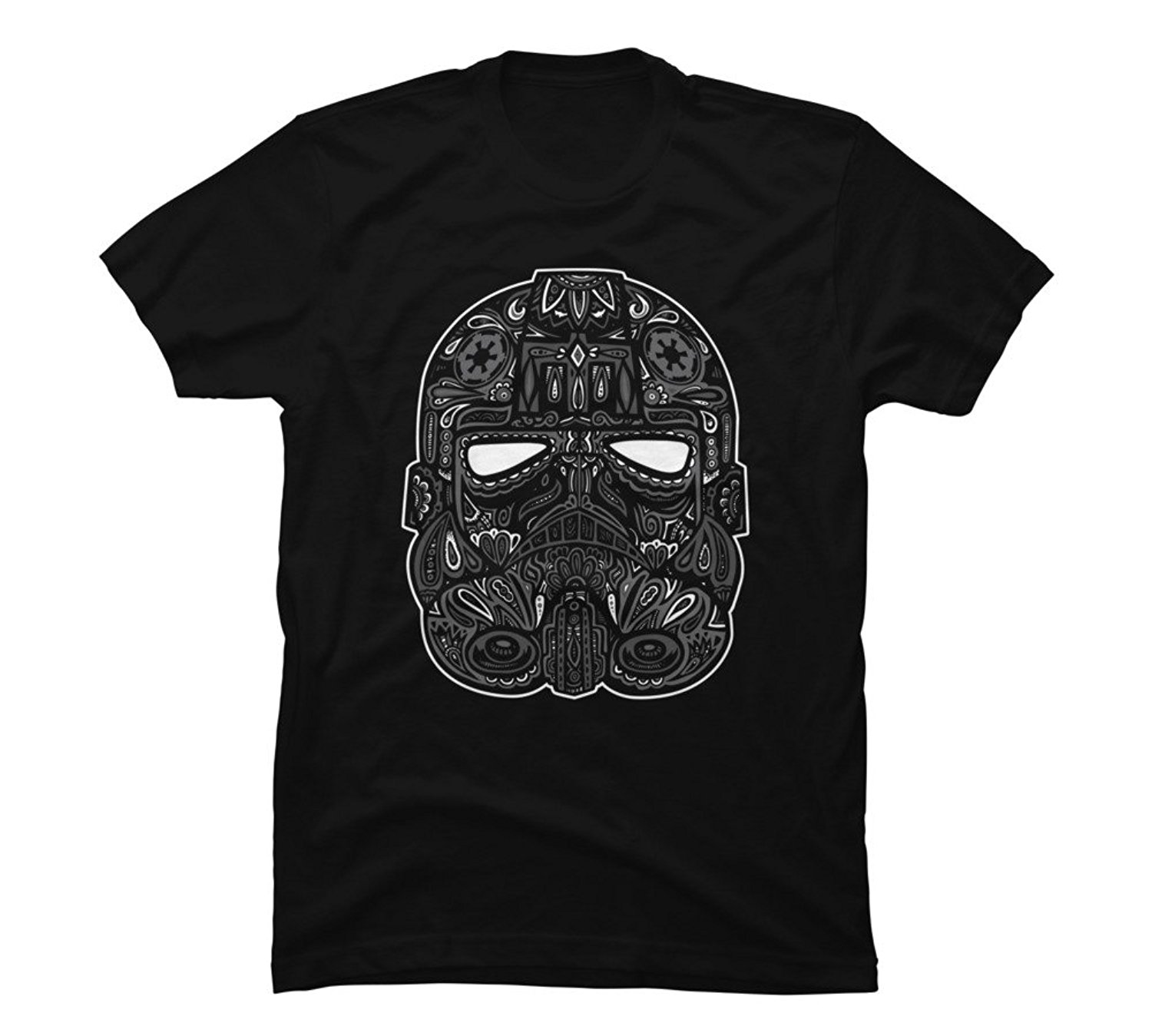 Tie Fighter Calavera Men's Graphic T Shirts - Design By Humans Fashion Style Cotton T-Shirt Fashion Free Shipping Black