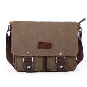 Новые холщовые сумки на плечо винтажная Высококачественная дорожная сумка через плечо мужские сумки-мессенджеры для ноутбука повседневна... >> Cheerful Trading Company Store