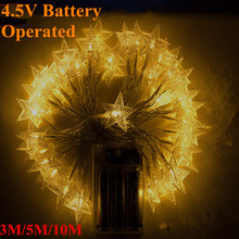 Lighting Strings AA Battery Operated 4.5V3M5M10M 80 led Christmas Holiday WeddingPartyDecoration Festi String Fairy LightsLamps