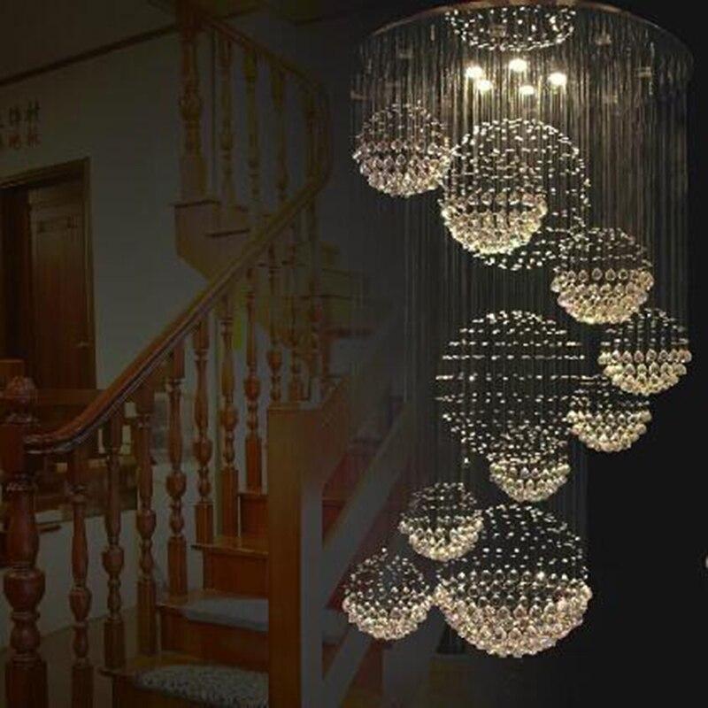 free shipping new modern 11 ball design lustre crystal chandelier lights large lustres de. Black Bedroom Furniture Sets. Home Design Ideas