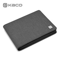 KACO Pen Pouch Pencil Case Bag Available for 20 Fountain Pen / Rollerball Pen Holder Storage Bag Black / Gray Color Waterproof