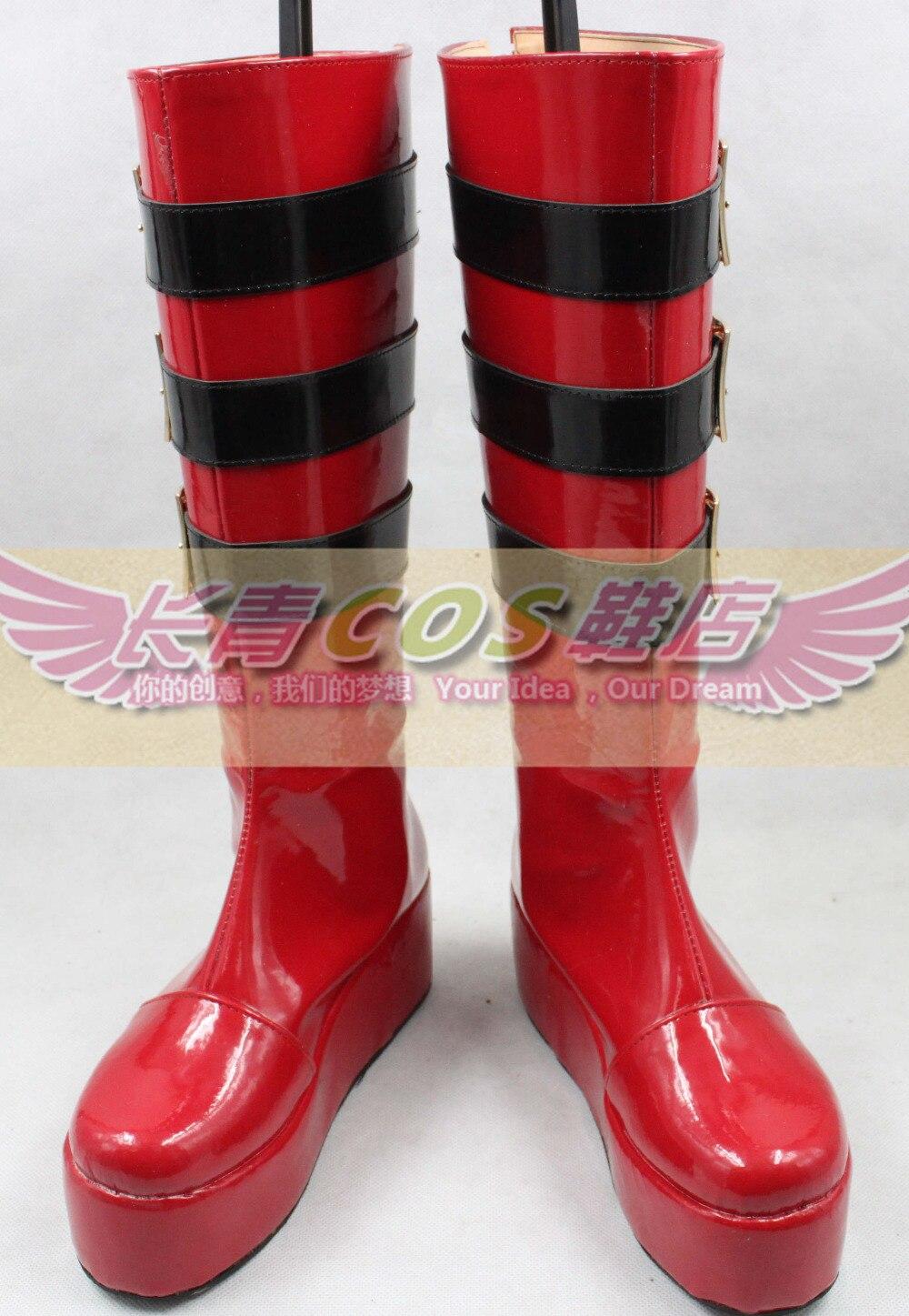 Евангелион Ayanami Rei Ева Хэллоуин длинные Косплэй Обувь Сапоги и ботинки для девочек C006