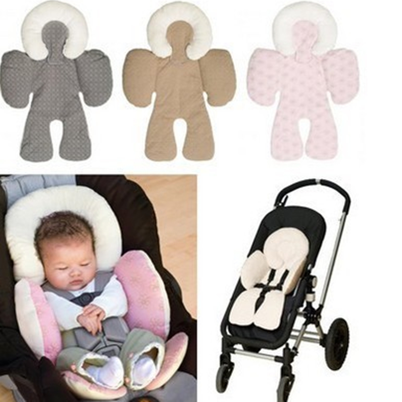 BBSONG Baby Infant Toddler Head Support Cushion Seat Mat Kids Stroller Chair Shoulder-sided Protective Cover Neck Protection Pad
