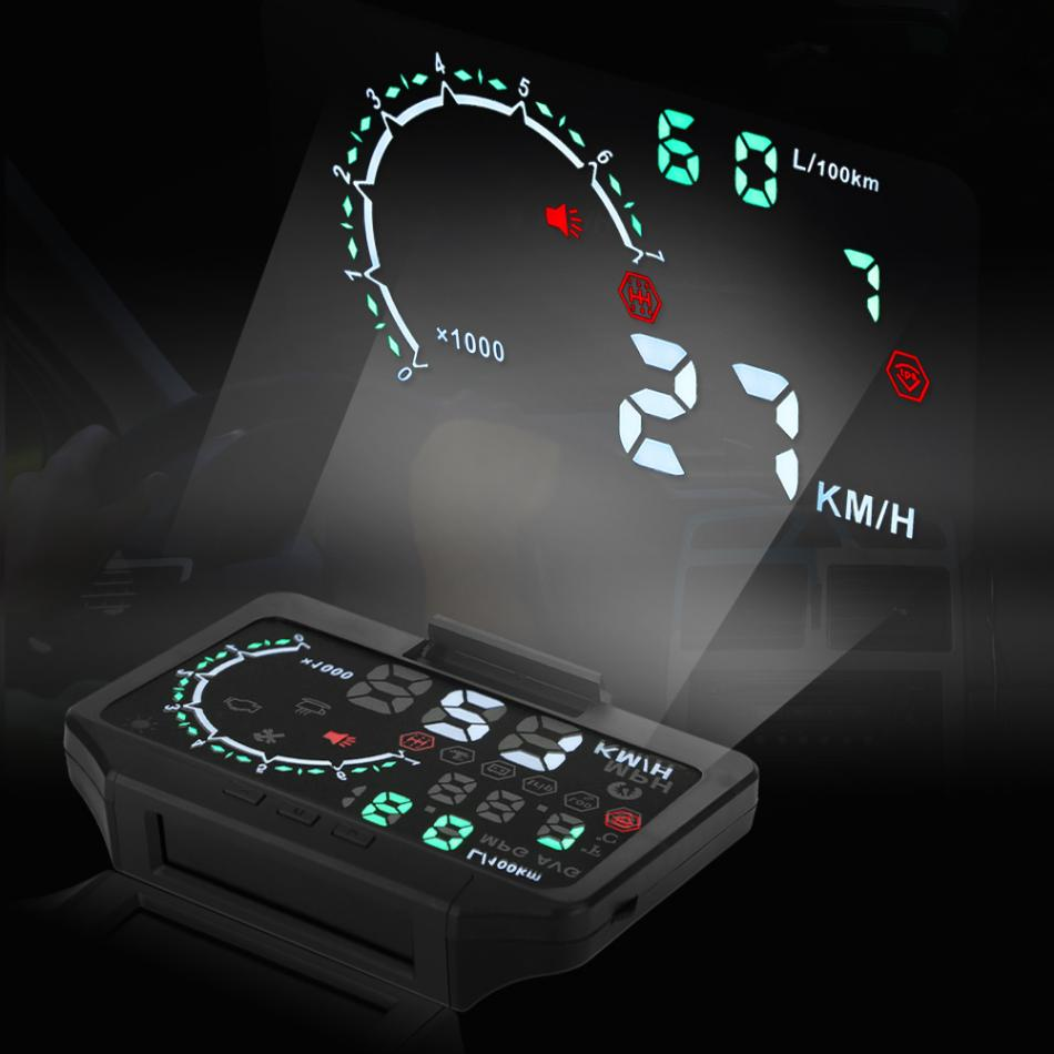 Car TPMS Tire Pressure Monitor System HUD Head Up Display Speed Warning OBD2 Interface Set Car Accessories tpms with hud