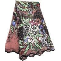 Latest Beaded Lace Fabric 2018 Fashion African Lace Fabric Tulle African French Lace Fabric High Quality Nigerian Fabrics GL72 2