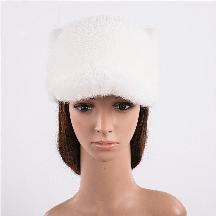 Шерстяные шапки бейсболки женские Зимние Повседневные шапки с жемчугом сплошной цвет - 2