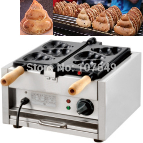 110V 220V Commercial Use Electric Burning Poo Waffle Maker Iron Machine Baker носки низкие toy machine poo poo head ankle brown 1065626