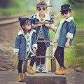 Crianças quentes Meninos Jaqueta Jaqueta Jeans Meninas das Crianças Roupas de Bebê Casaco Casuais Outerwear Da Menina Do Bebê Roupas de Inverno Jaqueta Crianças