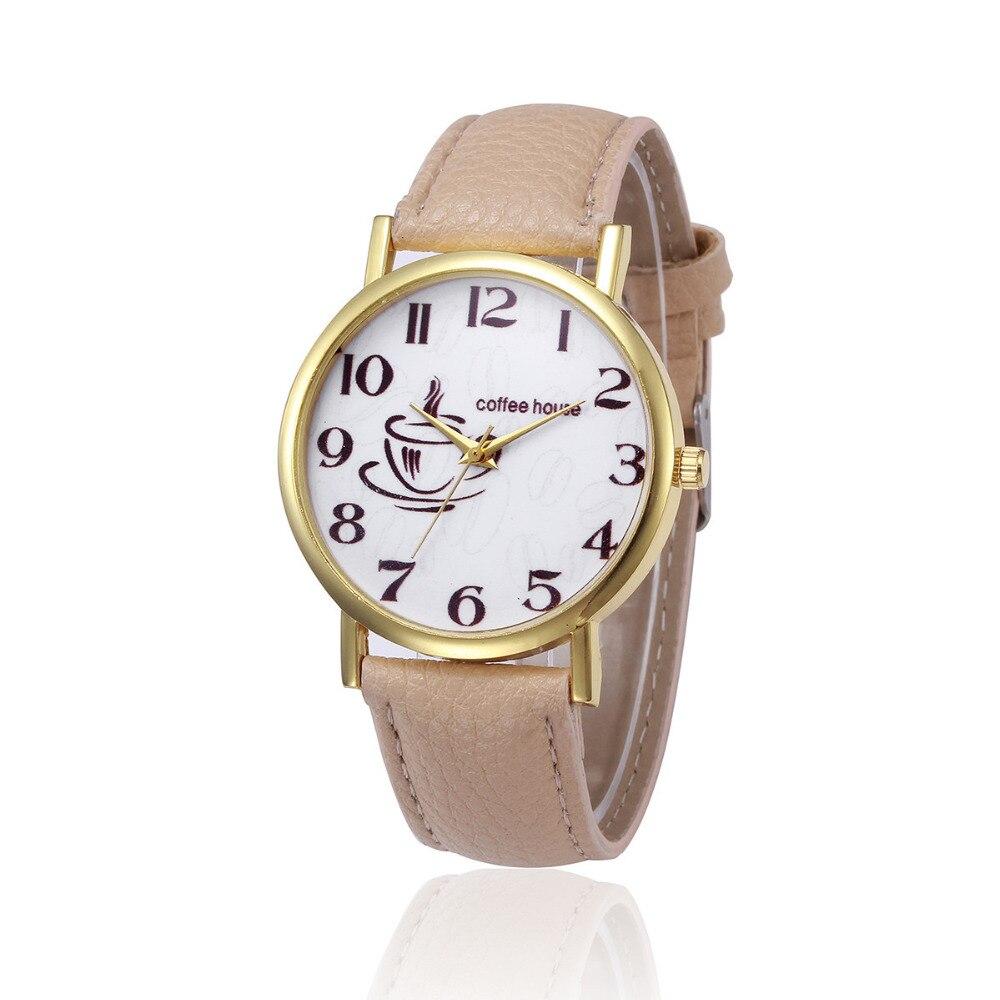 2018 Casual Women Watches Retro Design PU Leather Band Analog Alloy Quartz Wrist quartz-watch Female Dress Relogio hombre Watch pu band analog quartz bracelet wrist watch for women coffee