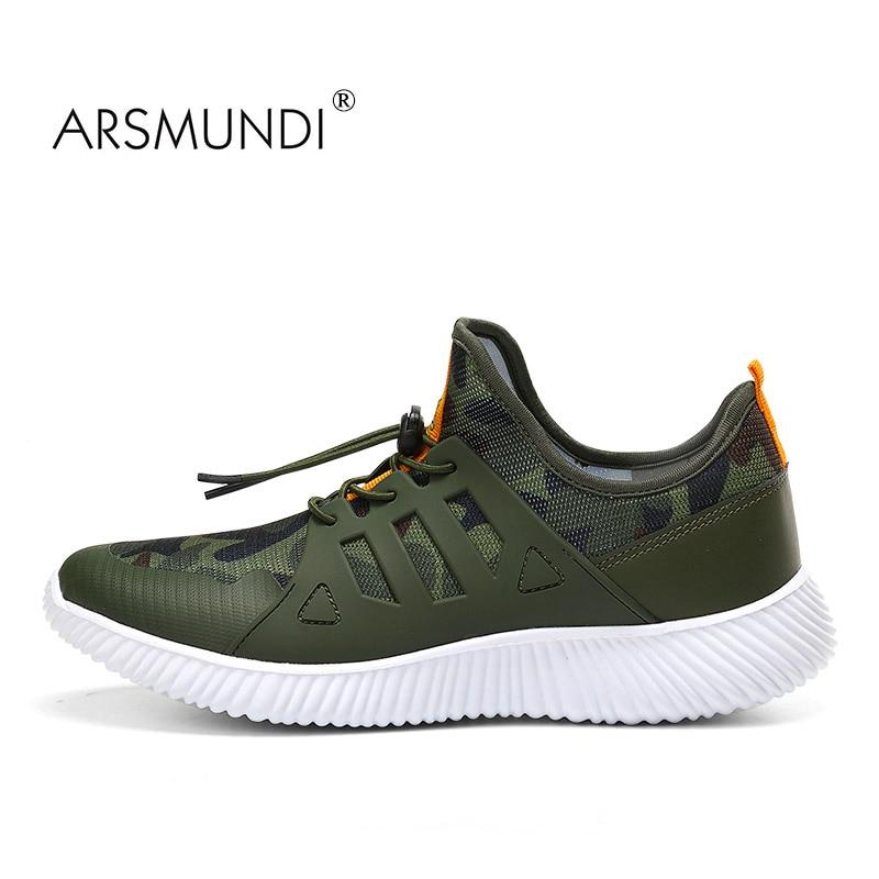ARSMUNDI Izvorni muške cipele za trčanje 1805 Super svjetlo brzina tenisice za disanje Zračne mrežice Atletske cipele zelene