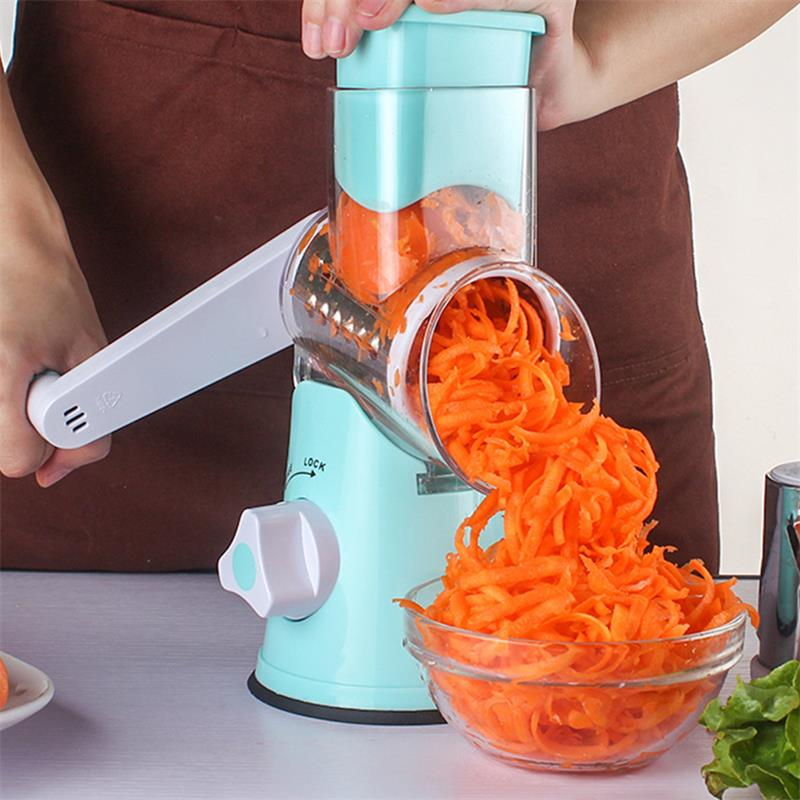 Rotating Grater Tools Potato Shredder Kitchen Tool Multi-function Hand Roller Cutter Rotary Planer Machine Kitchen Accessories