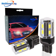 2PCS T20 W21 5W 7443 LED White Cree Chip 12SMD 5730 Auto Brake Lights Reversing Lamp Bulb Car 7440 W21W Led Bulbs DRL 12V цены