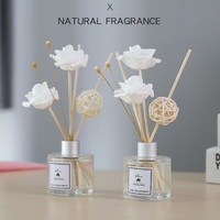 50 ml aromatherapie essentiële olie kits 8 geur gedroogde rotan voor party home decoratie reed diffuser sticks dropshipping TSLM1