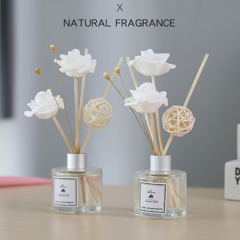 50ml Aromatherapy Essential Oil Kits 8 Fragrance Dried Rattan For Party Home Decoration Reed Diffuser Sticks Dropshipping TSLM1