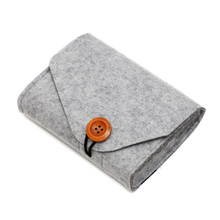Mini Earphon Bag Small Felt Pouch Case Travel Electronics Accessories Organizer For Data Cable Charger Gadgets Pocket