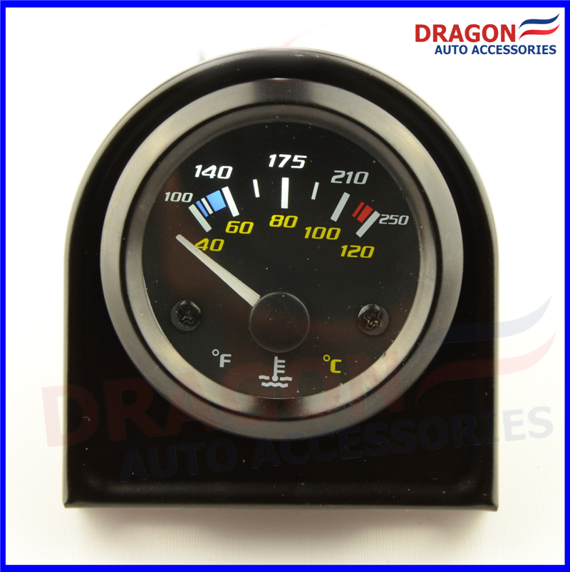 Universal Auto Gauges : Inch mm universal car dual analog water temperature