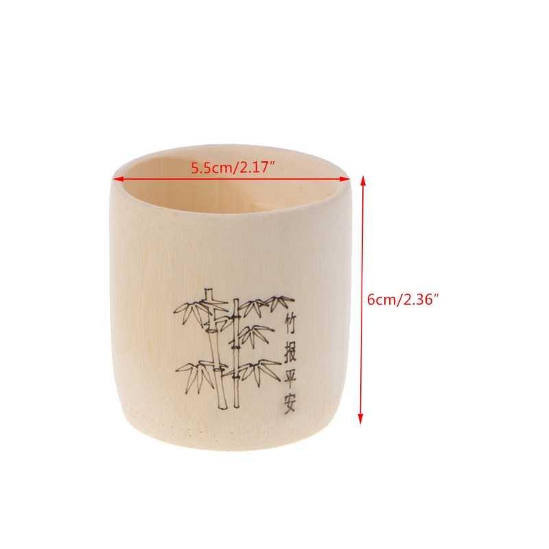Bamboo Wooden Drinking Cup Coffee Tea Mug Breakfast Beer Milk Wine Glass L