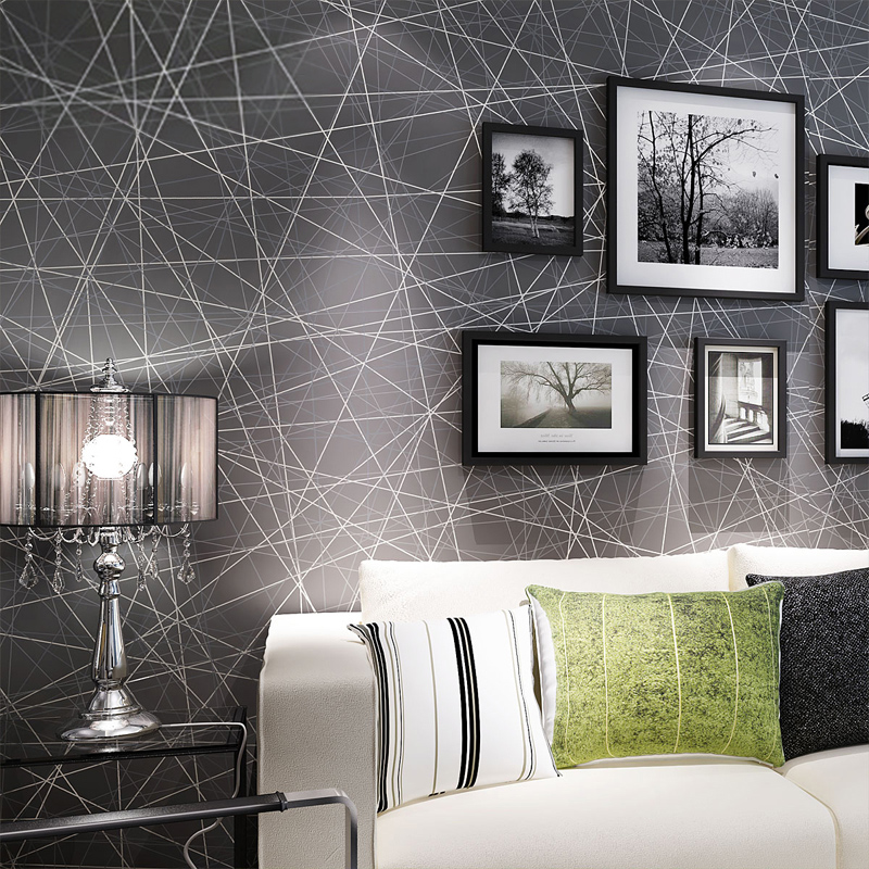 High Quality Modern Geometric Wallpaper Roll For Bedroom Living Room Art Decoration 3D Abstract Striped Wall Paper Home Decor