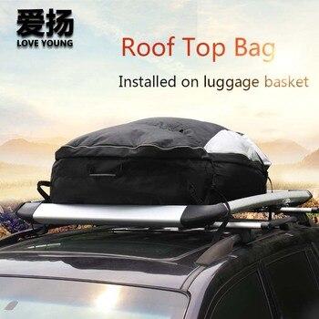 سقف سيارة علوي حقيبة 600D أكسفورد القماش الأمتعة للماء حقيبة كبيرة قدرة العالمي سقف حقيبة