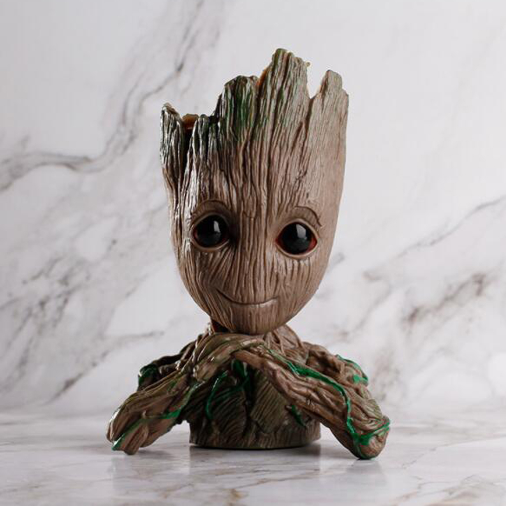 Guardians of The Galaxy 2 Cosplay 15CM Tree Man Marvel Movie Figures Toys Pen Pot And Flower Pot Dolls Anime Toy