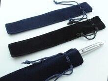100pcs/lot wholesale  velvet pen pouch Standard pencil bag  DARK BLUE or BLACK  Free Shipping