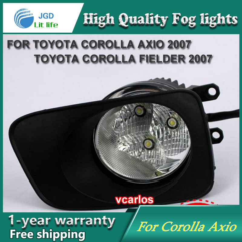 2PCS / Pair LED Fog Light For Toyota Corolla Axio 2007 High Power LED Fog Lamp Auto DRL Lighting Led Headlamp 2pcs pair led fog light for toyota corolla axio 2007 high power led fog lamp auto drl lighting led headlamp