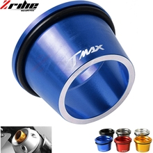 For Yamaha T-max TMAX 2012 2013 2014 2015 2016 2017 CNC Aluminum Motorcycle Exhaust Pipe Muffler Tail Port Cover Cap cnc motorcycle exhaust pipe muffler tail port cover cap for yamaha tmax530 tmax 530 t max 530 2012 2013 2014 2015 2016 2017