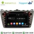 """Quad Core 8 """"HD 1024*600 Android 5.1.1 Reproductor de DVD Del Coche de Radio Estéreo PC 3G/4G WIFI GPS Map Para Mazda 6 Ruiyi Ultra 2008-2012"""
