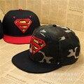 2016 новинка детская бейсболка мальчики супермен хип-хоп snapback плоским шляпа gorras бесплатная доставка