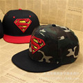 2016 new fashion children's baseball cap Boys Superman S hip hop snapback flat brimmed hat gorras free delivery
