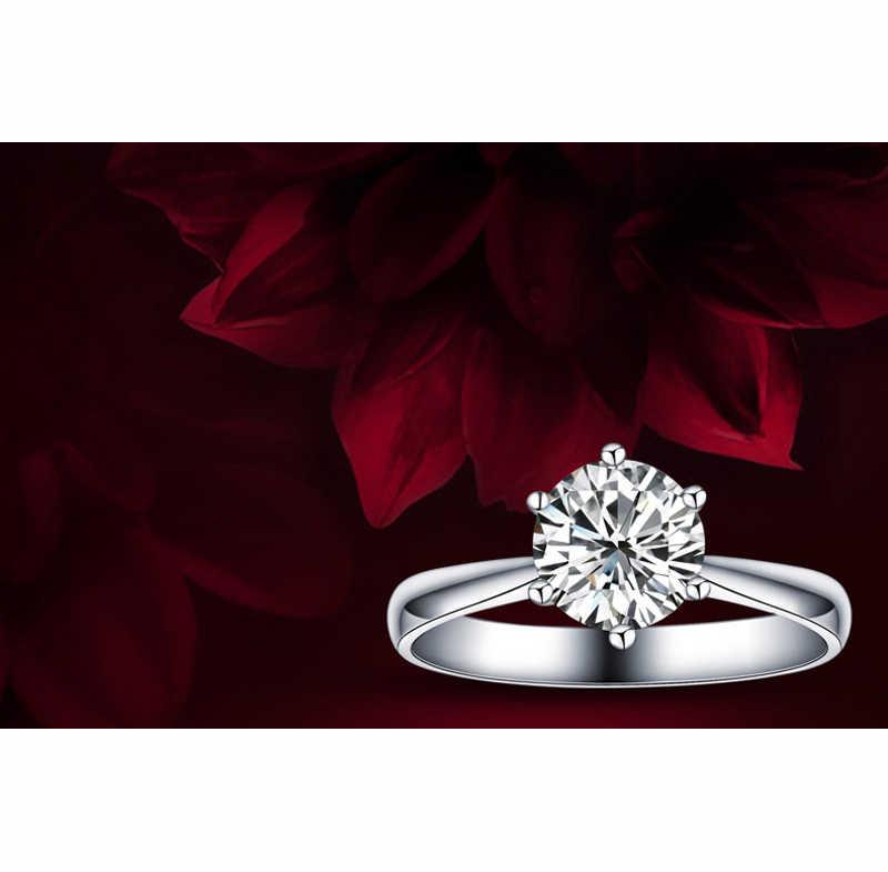 โรแมนติกงานแต่งงานแหวนเครื่องประดับ Cubic Zirconia แหวนผู้หญิงผู้ชาย 925 แหวนเงินสเตอร์ลิงอุปกรณ์เสริม