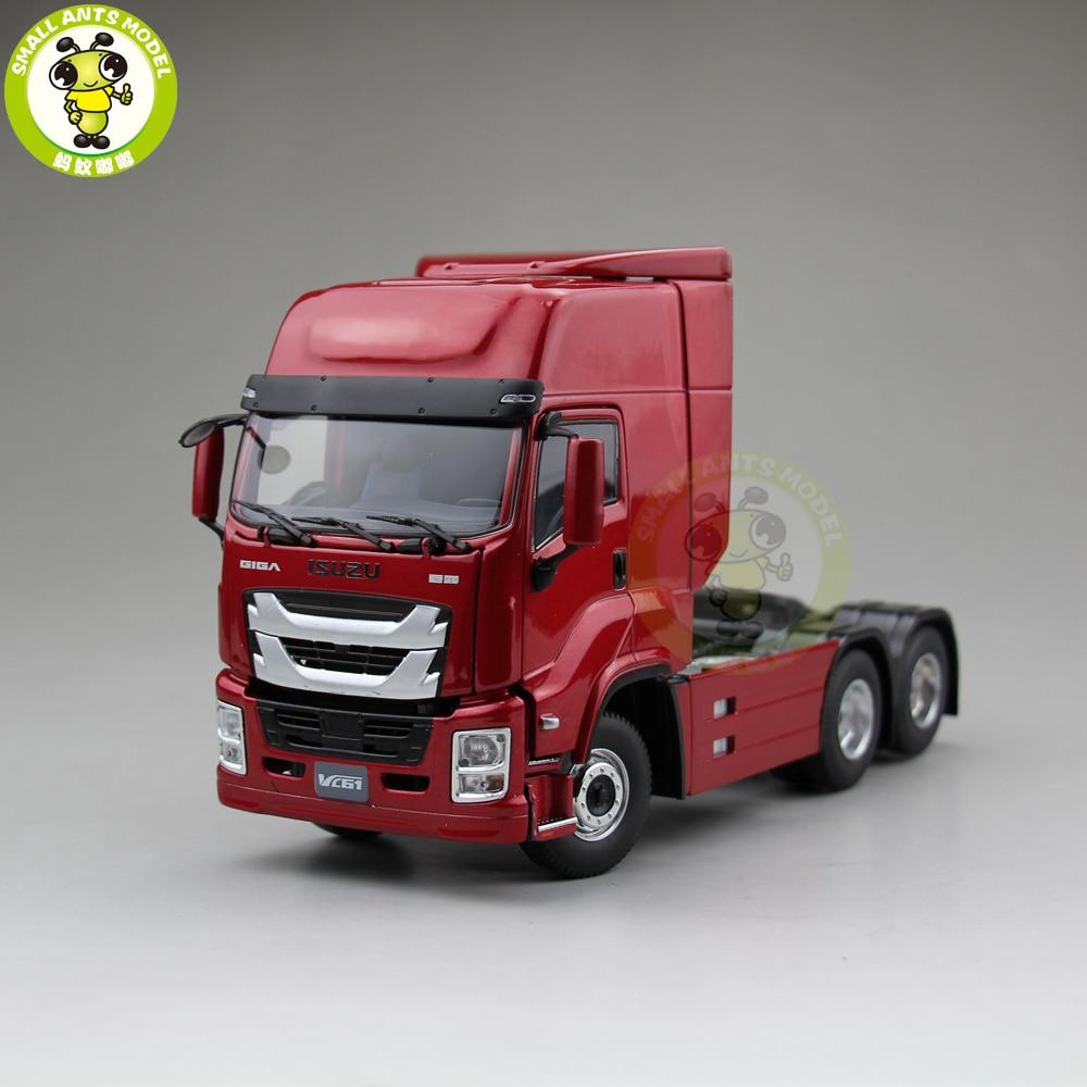 1/32 Isuzu GIGA VC61 Truck Trailer Diecast Car Model Collection Gift Hobby Red