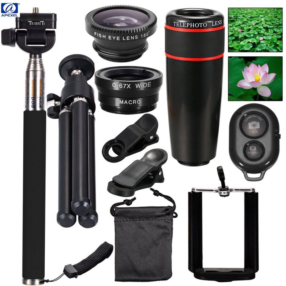 Top Travel Kit 10in1 Accessories Phone Camera Lens For iPhone 5S 6 Plus and galaxy HTC XIAOMI HUAWEI smartphone free shipping 3
