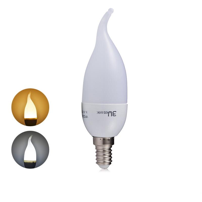 Goodland Chandelier SMD2835 LED Candle Bulb E14LED Bulb AC220V 240V LED Lamp 6pcs/lot 3W Energy Saving For Living Room Lighting pocketman 1pcs led candle light bulb e14 smd2835 220v energy saving lamp decorativas home lighting led lamp 220v 3w 5w e14