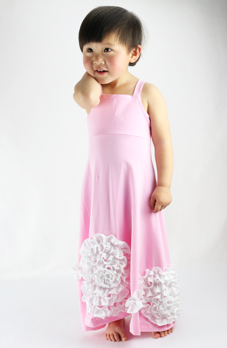 Kids Dresses For Girls Hot Sale! Summer Girl Flower Maxi Dress,adorable And Cotton Halter Long Dress For 1-8t Kids Party summer 2017 new girl dress baby princess dresses flower girls dresses for party and wedding kids children clothing 4 6 8 10 year