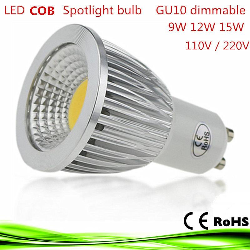 1X led bulb gu10 9W 12W 15W LED lamp lighting Light 110V 220V dimmable bombillas lampada led e14 COB Spot light Warm/Cool White sencart e14 3w white light cob led spot light 150lm 5900 6200k