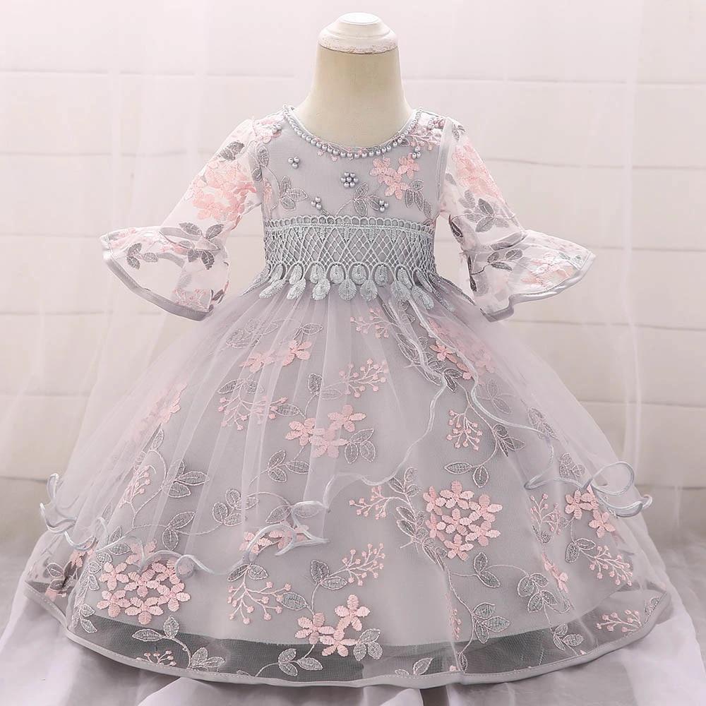 Newborn Baby Baptism Dress Baby Girl Party Dresses Girl Embroidery Half  Sleeve Dress 6 Year Birthday Baby Girls Dress L5065xz