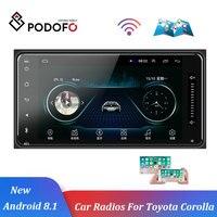 Podofo Android 8.1 Auto Radio GPS Car Multimedia Player 2 Din 7'' Car Radios Bluetooth Auto Audio FM AUX USB For Toyota Corolla