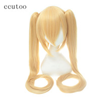 Ccutoo 24 Ice Blue Braid Long Styled Synthetic Hair Heat Resistance Cosplay Full Wigs