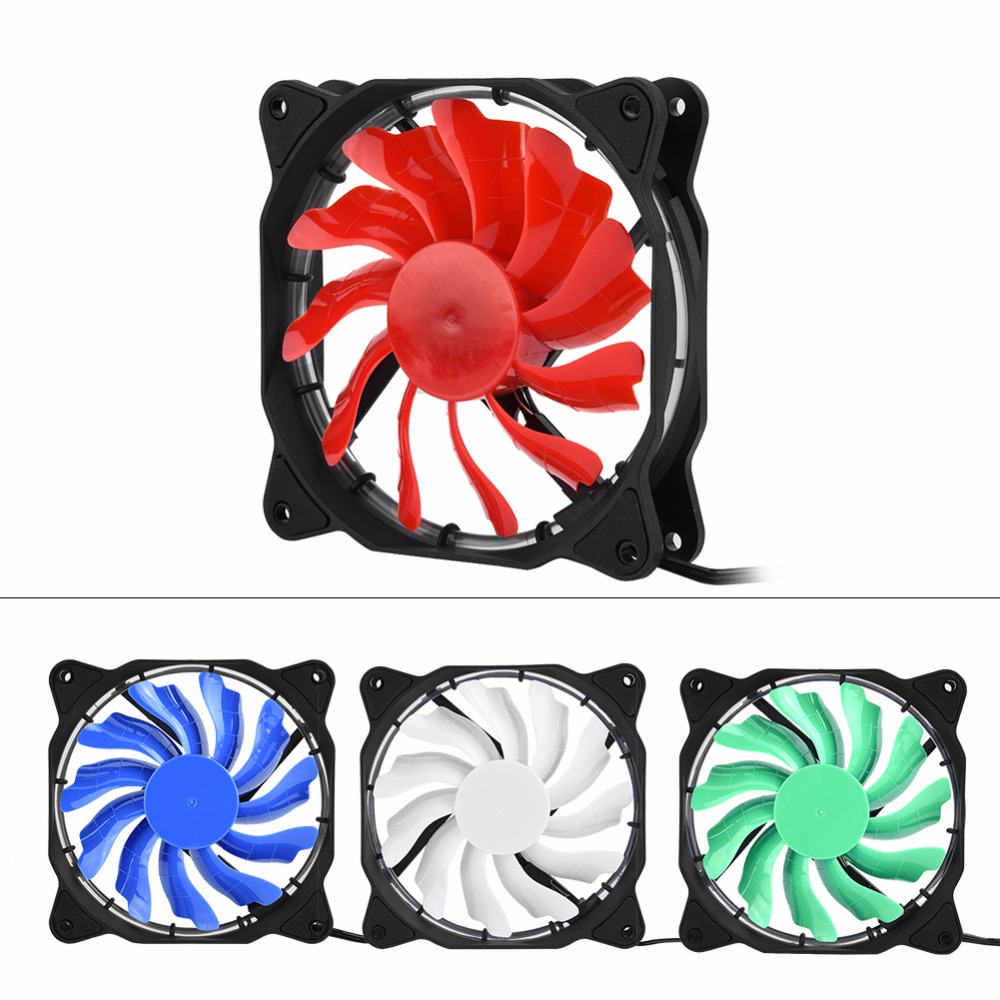 120mm 57 CFM LED Light PC Case Fans Cooling Cooler Fan Cooling Fan for Computer Case Mute Case Fan Motherboard 3Pin+Large 4Pin