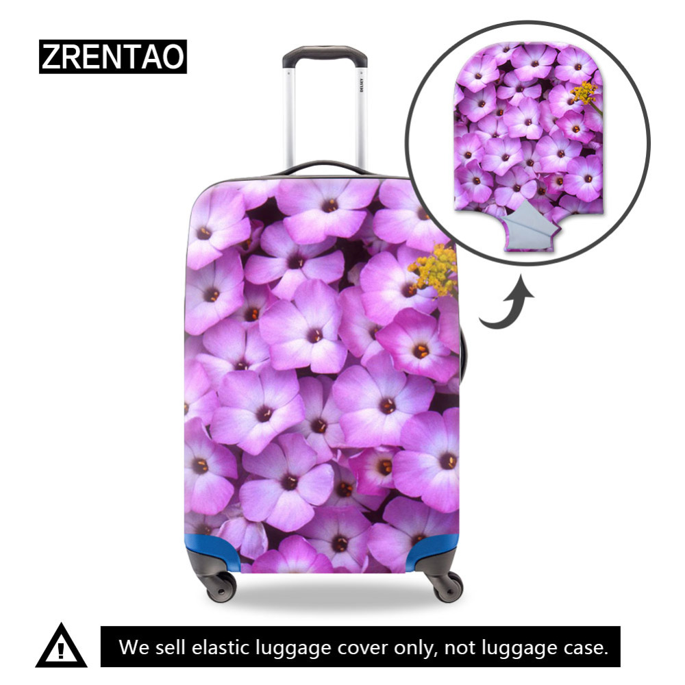Flower Print Fashion Travel Accessories,Elastic Dust Luggage Cover,Cute Suitcase Protective Covers For 18-32 Inch Holiday Case