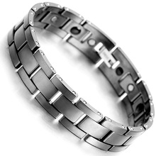 Tungsten Magnetic Hematite Mens Bracelet 2017 Fashion Health Care Jewelry B1374