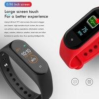 men waterproof M4 Smart Bracelet Waterproof Heart Rate Monitor Smart Band Blood Pressure Fitness Tracker Sport Watch Men Women mi band 4 (5)