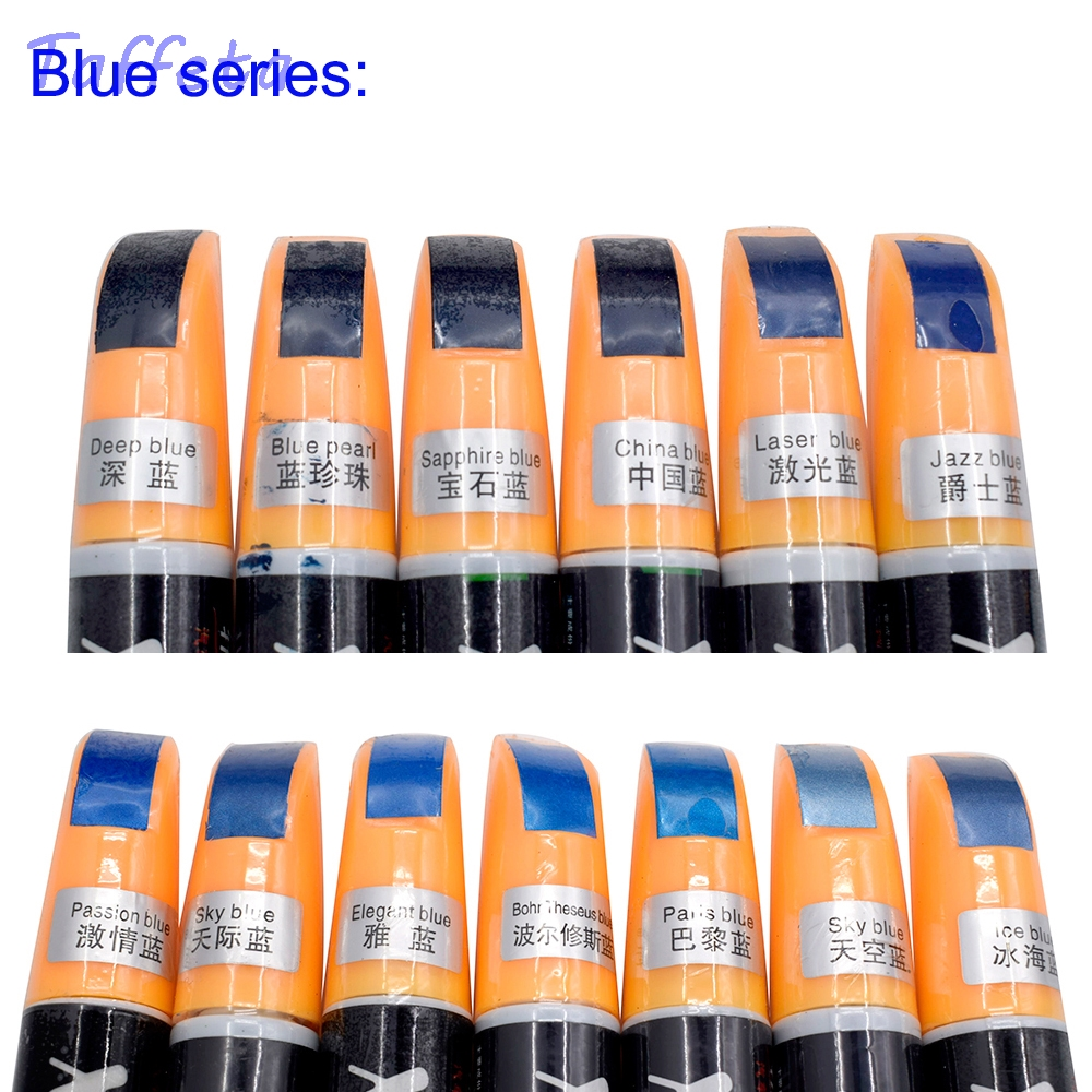 1pcs Passion Sapphire Paris Blue Colors Universal Car Pro Mending Car Remover Scratch Repair Paint Pen Clear