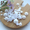 2mm Nail art decoration Rhinestone fabriceation pearl flatback nail art rhinestones round pure white thousands pack pearls