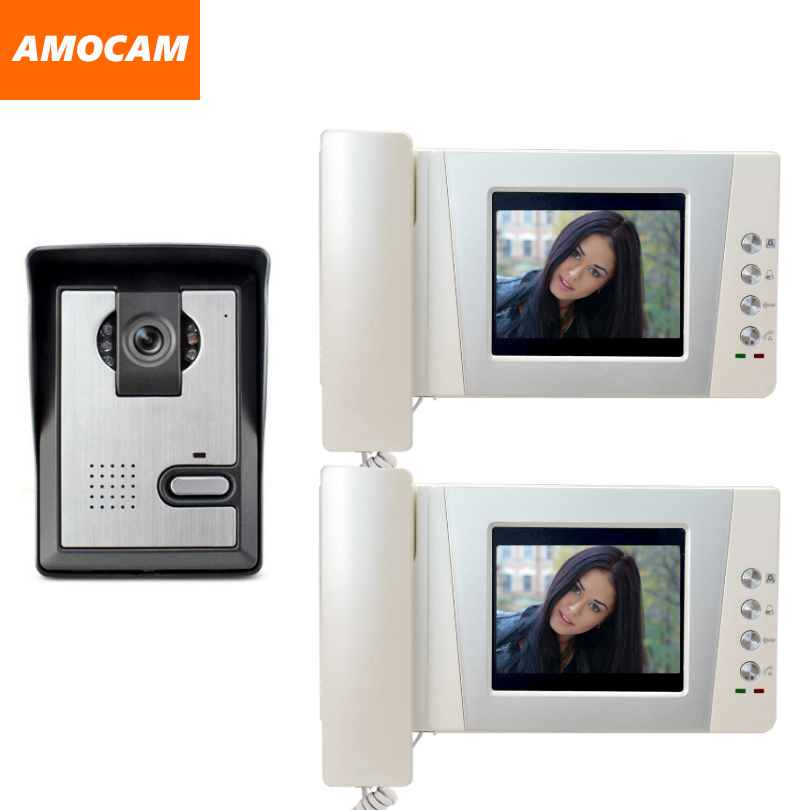 4.3 Telephone Monitor Video Doorbell System Night Vision Door Camera Video Door Phone Intercom Video Doorphone kit 2-Screen