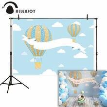 Allenjoy фоны для фотостудии голубое небо белое облако Золото