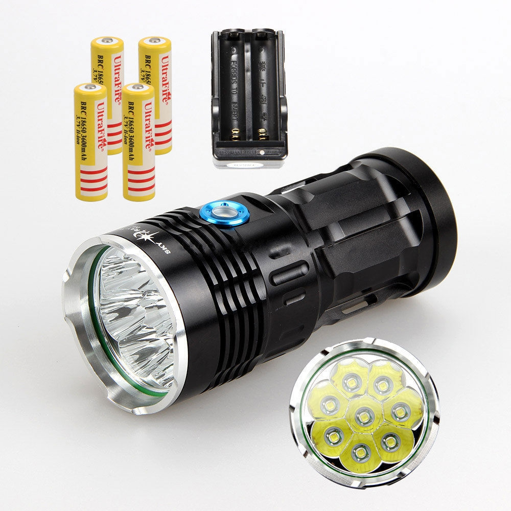 36000 LM X-XML T6 12x LED Flashlight 4x 18650 Ultra Bright Hunting Lamp GO TR