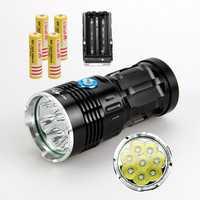 WasaFire offre spéciale 12000 Lumens Super lumineux SKYRAY 8 x XM-L T6 lampe de poche LED lampe torche lumière 3 Mode lanterne pour Camp randonnée chasse