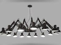 Современный американский индивидуальный светильник паук Выдвижная лампа Подвеска Масштабируемая лампа для дома/офиса/бара декоративная л